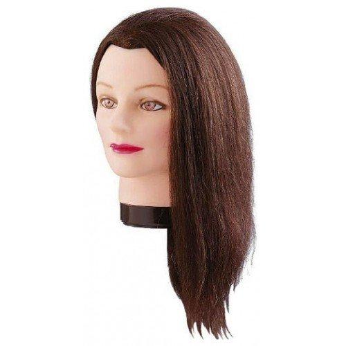 Голова учебная Comair, шатенка, натуральные волосы, 40 см 7000832