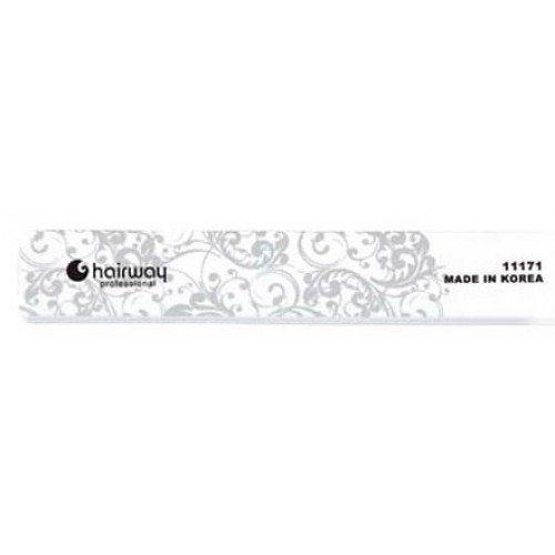 Пилка для ногтей HairWay для блеска с орнаментом широкая 18 см 11171