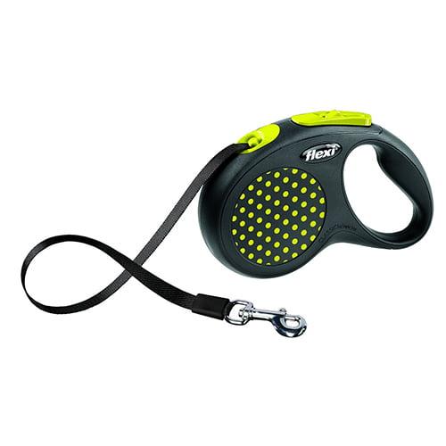Поводок-рулетка для собак Flexi Design S 5 м ремень желтый