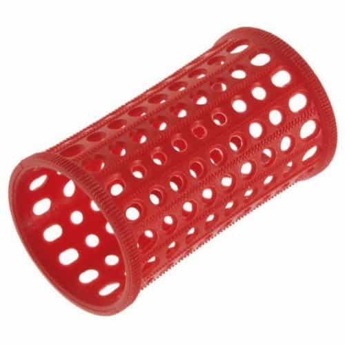 Бигуди Sibel пластиковые, красные, 40 мм 10 шт. 4600832