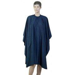 Пеньюар для стрижки Dewal Матовый, полиэстер, темно-синий 128x148 см, на крючках AA09Deep Blue