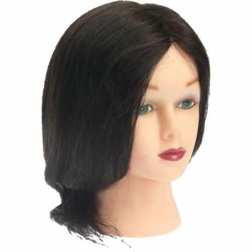 Голова учебная Dewal, брюнетка, натуральные волосы 30-40 см M-2023M-401