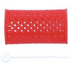 Бигуди пластиковые Dewal красные, 38 мм, 12 шт/уп RMHR1