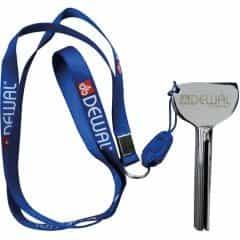 Выжиматель тюбика Dewal ключ алюминиевый, на шнурке NA0002/1