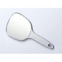 Зеркало косметическое Dewal, пластик, серебристое, с ручкой 12x15 см MR-9M17