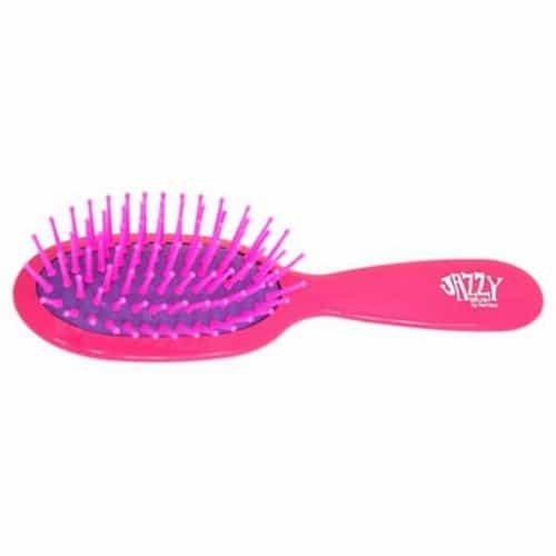 Щётка Harizma Jazzy овальная массажная малая, розово/фиолетовая h10630-0507