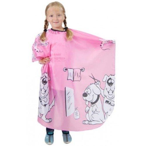 Пеньюар детский HairWay нейлоновый, водонепроницаемый, розовый 95x120 см 37900