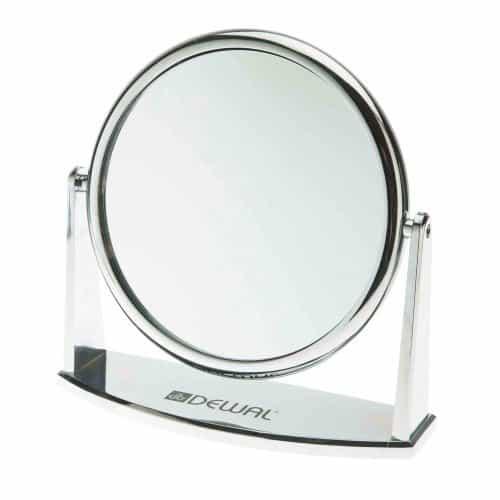 Зеркало настольное Dewal, серебристое, 18x18,5 см MR-425
