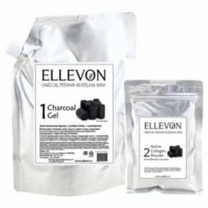 Альгинатная маска с углем Ellevon гель + коллаген (1000 мл+100 мл)
