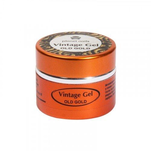 Гель-паста для чеканки Planet Nails, Vintage Gel, old gold, 5 г 11274