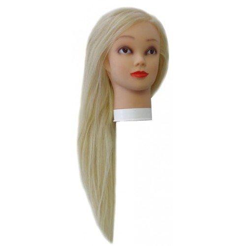 Голова учебная Harizma, блондинка, 50% натуральные, 50% искусственные волосы, 50-60 см h10824