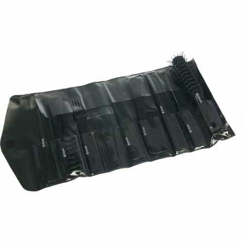 Набор расчесок Dewal черный, в черном чехле, 8 шт CO-6000K8