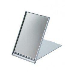 Зеркало косметическое Dewal, пластик,серебристое, складное 7,5x5 см MR-9M404