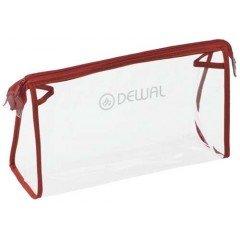 Косметичка Dewal, полимерный материал, прозрачно-красная 25x8x15 cm GS-P002-2