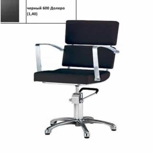 Кресло гидравлика с пиастрой Имидж Мастер Лига, черное 600 Долеро, 1,40 К-ЛГ8