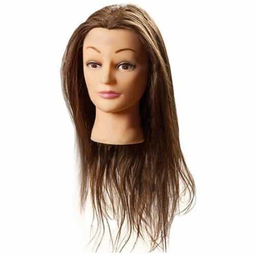 Голова учебная Harizma, шатенка, 50% натуральные, 50% нейлоновые волосы, 50 см h10823
