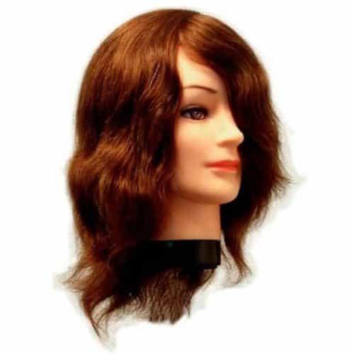 Голова учебная Eurostil, натуральные волосы, 20-25 см 01455