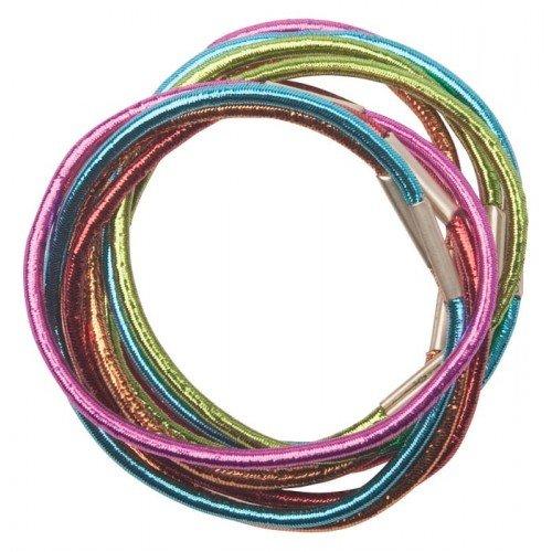 Резинки для волос Dewal, цветные, блестящие, midi 10 шт/уп RE040