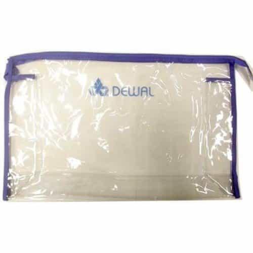Косметичка Dewal, полимерный материал, прозрачно-синяя 34x8x22 см GS-P004-5