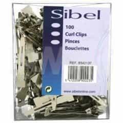 Зажимы Sibel металлические маленькие 100 шт. 9340137