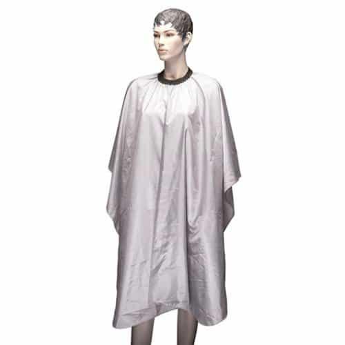 Пеньюар для стрижки Dewal Палитра, полиэстер, серый, 128x146 см, на крючках AA23 light grey