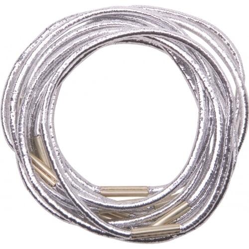 Резинки для волос Dewal, серебристые, midi 10 шт/уп RE041