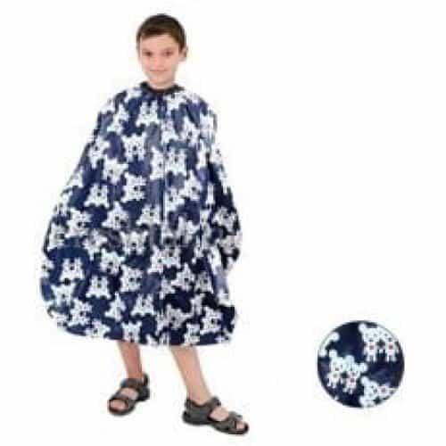 Пеньюар детский HairWay Bears нейлоновый, водонепроницаемый, синий 95x120 см 37924-04