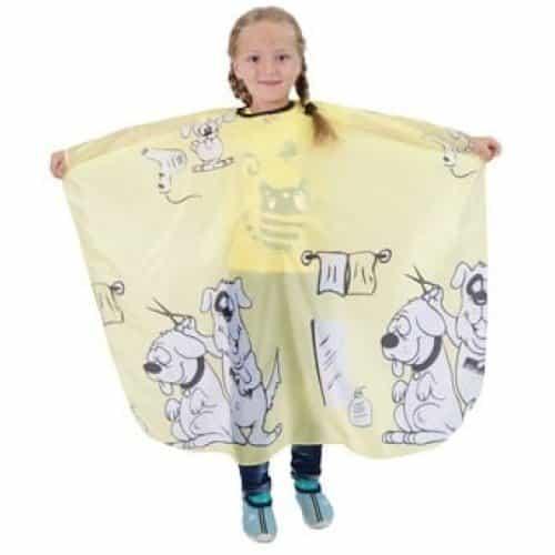 Пеньюар детский HairWay Children 2 нейлоновый, водонепроницаемый, желтый, 95x120 см 37922
