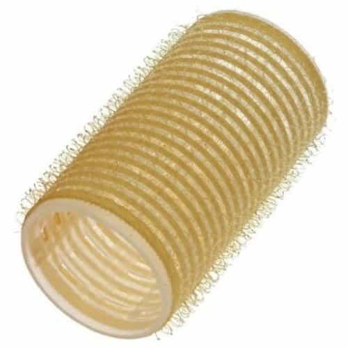 Бигуди Sibel на липучке желтые 32 мм, 12 шт 4123549