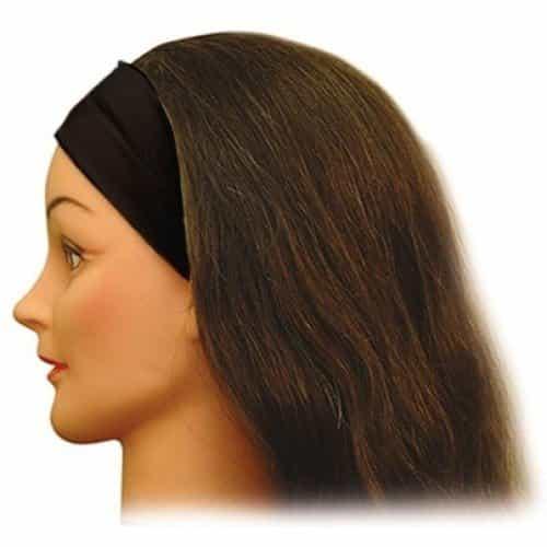 Лента для волос узкая черная Sibel 5050223-02