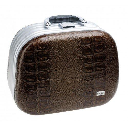 Чемодан для парикмахерских инструментов Dewal, искусственная кожа, коричневый 26 x15 x19 см HP809M
