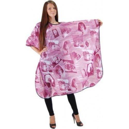 Пеньюар HairWay Summer in City нейлоновый, водонепроницаемый, розовый 115x146 см 37211