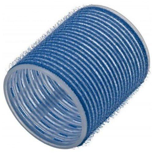 Бигуди Sibel на липучке, голубые, 56 мм 6 шт. 4166049