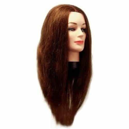 Голова учебная Eurostil, брюнетка, натуральные волосы 40–50 см в комплекте со штативом 00603