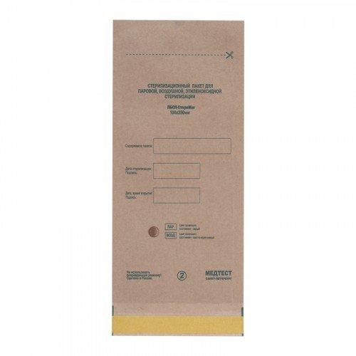 Крафт пакеты для стерилизации Planet Nails, 100Х250 мм, 100 шт в упаковке 19268