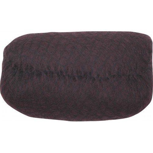 Валик для прически Dewal, искусственный волос, сетка, темно-коричневый 18x11 см HO-PC Dark brown