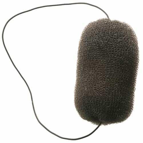 Валик для прически Dewal, сетка с резинкой, черный 12 см HO-5113 Black