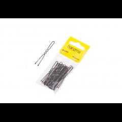 Шпильки Harizma 50 мм волна 30 шт черные h10541-15