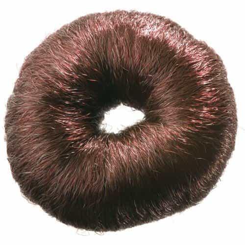 Валик для прически Dewal, искусственный волос, коричневый,  диаметр 8 см HO-5115 Brown