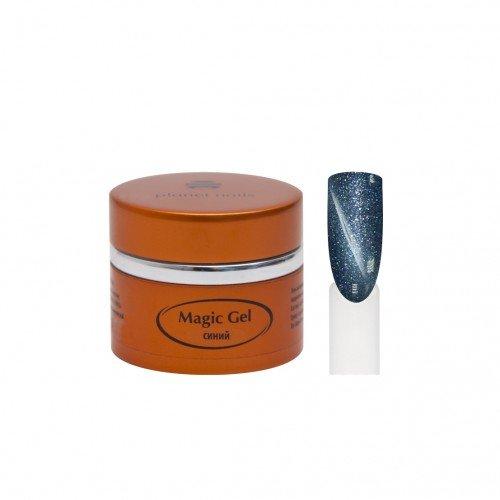 Гель Planet Nails, magic Gel, магнитный, синий, 5 г 11704