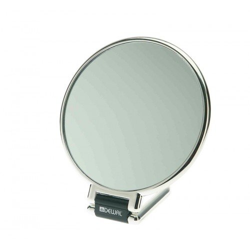 Зеркало настольное Dewal, пластик, серебристое 14x23 см MR-330