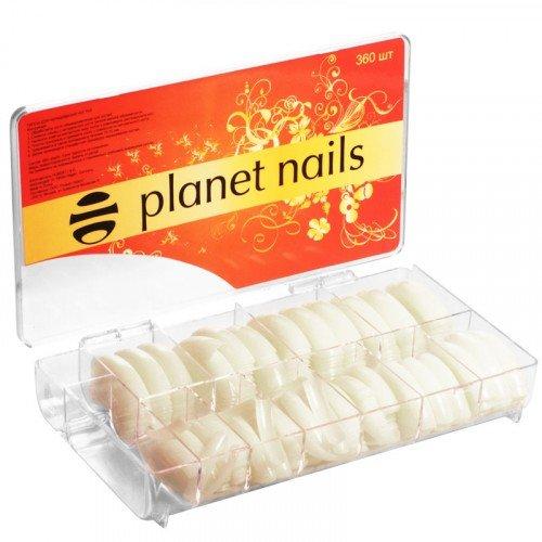 Типсы Planet Nails, американка, 360 шт в упаковке, №1-10 17050