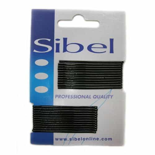Невидимки Sibel гладкие чёрные, 50 мм, 24 шт 940015002