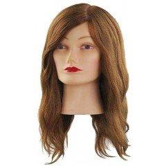 Голова учебная Comair, шатенка, натуральные волосы 40 см 7000827