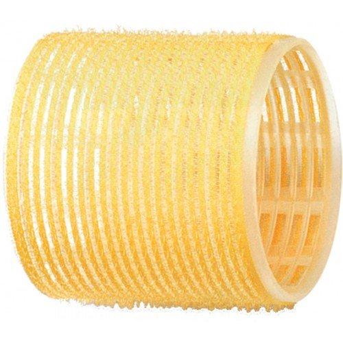 Бигуди-липучки Dewal желтые, 65 мм, 6 шт/уп R-VTR17