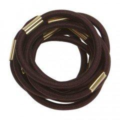 Резинки для волос Dewal коричневые, maxi 10 шт/уп. RE022