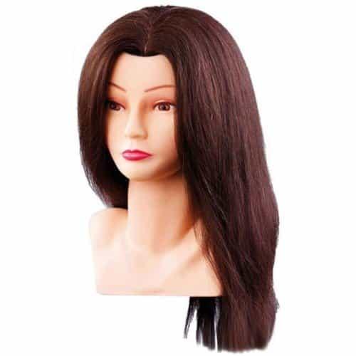 Голова учебная Comair, шатенка, натуральные волосы, 30-40 см 7000798