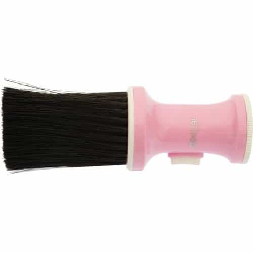 Кисть-сметка Dewal, настольная, ручка-пластик, с ёмкостью для талька, искусственная щетина, цветная NB002Light-purpl