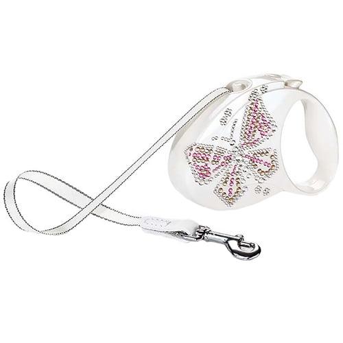 Поводок-рулетка для собак Flexi Glam Butterfly Small
