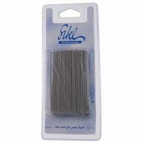 Шпильки Sibel гладкие коричневые 70 мм 50 шт. 937005015
